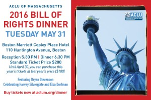 ACLU Bill of Rights Dinner 2016 @ Boston Marriott Copley Place | Boston | Massachusetts | United States
